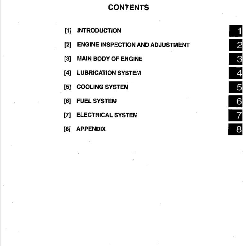 mitsubishi forklift engine service manual
