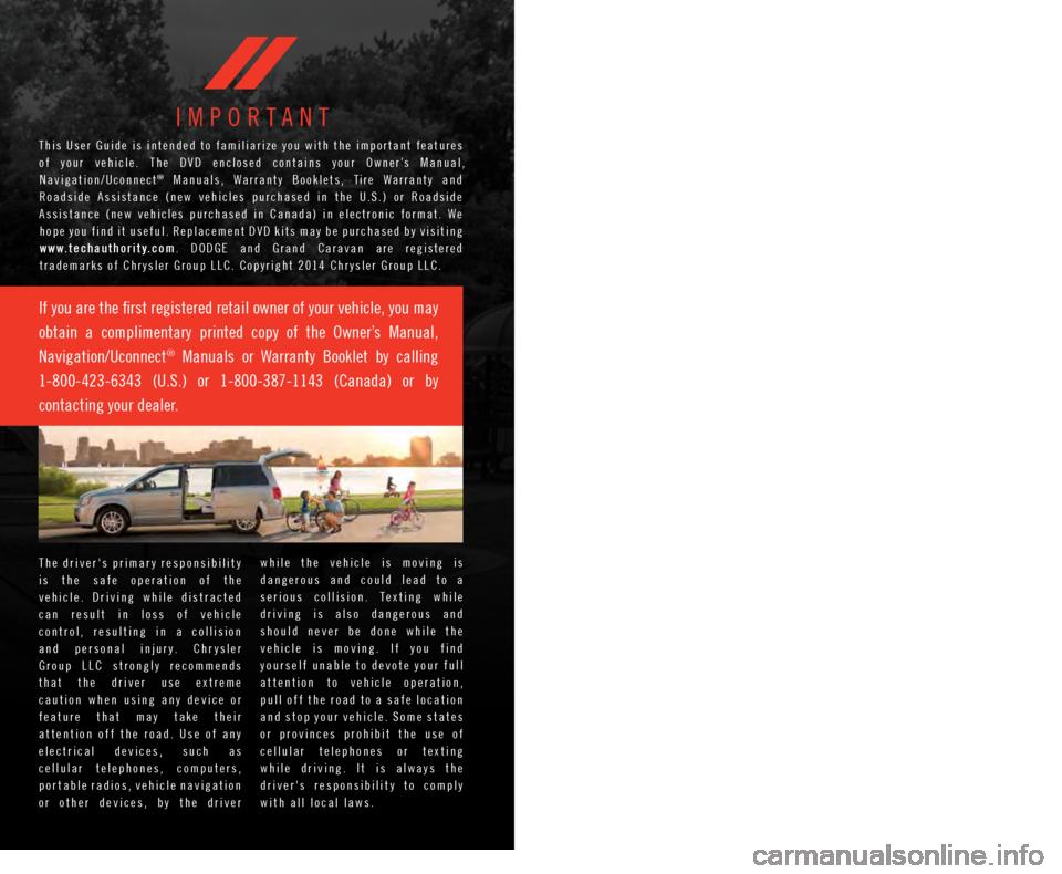 2015 dodge caravan user manual