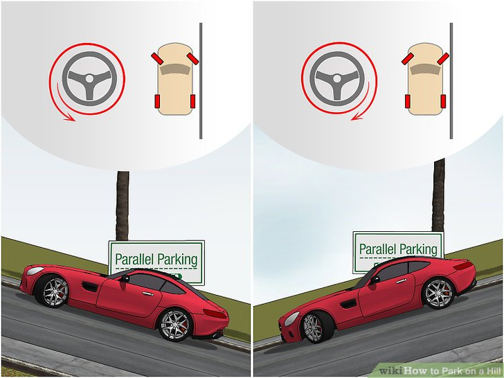 how to park on a hill with a manual transmission