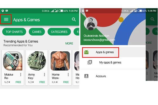 how to manually set updates playstore