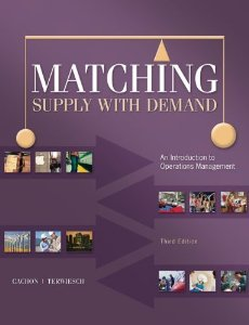 matching supply with demand 3rd edition solutions manual