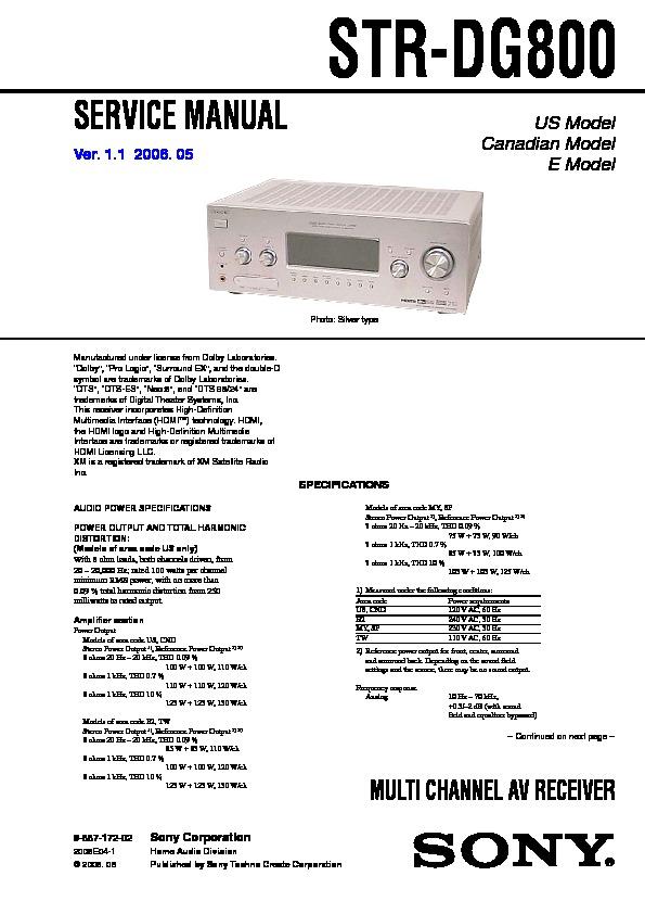 sony model str 320 manual
