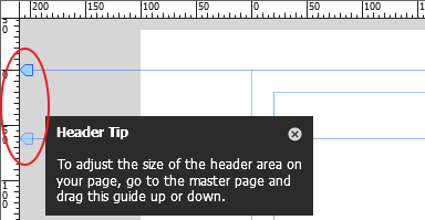 book headers and footers for a manual