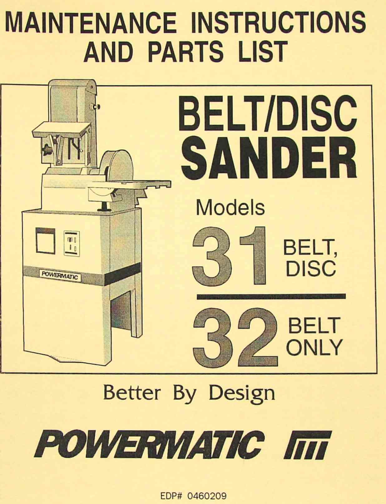 ryobi belt sander instruction manual
