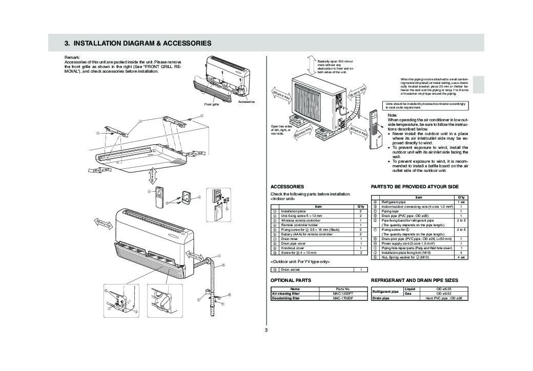 mitsubishi msz-fh18na2 operating manual