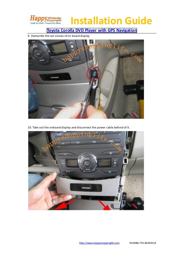 toyota car navigation installation manual