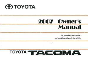 2007 toyota tacoma service manual pdf