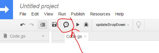script google sheet update manually