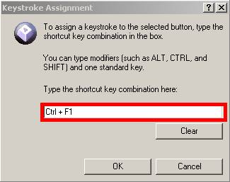 manually assign keystroke to function