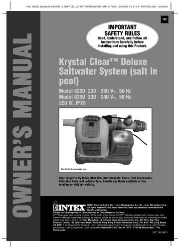 manual krystal clear saltwater system cg-28669