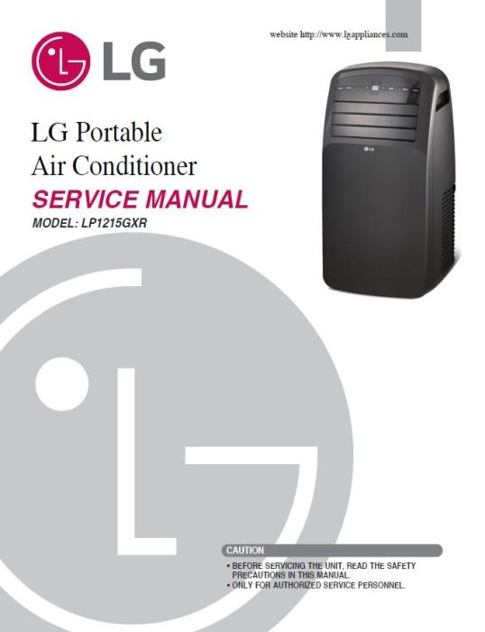 lg air conditioner lp1214gxr manual