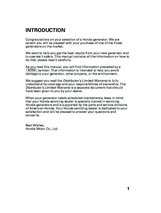 honda 5000 is generator manual