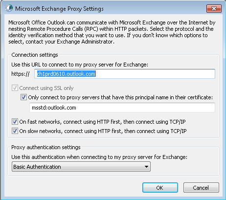 configure manually office 2010 exchange office 365