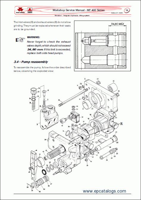 massey ferguson 41 sickle mower parts manual