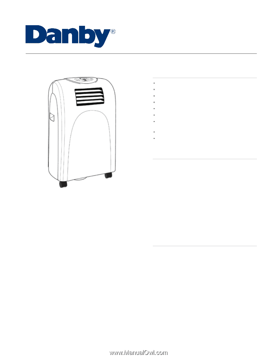 danby air conditioner dpac7008 manual