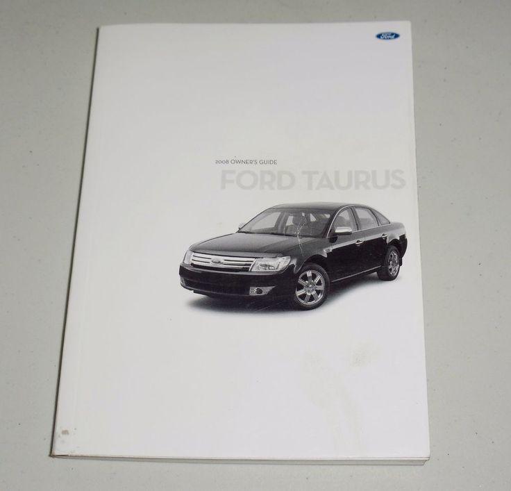 repair manual for 2008 ford taurus