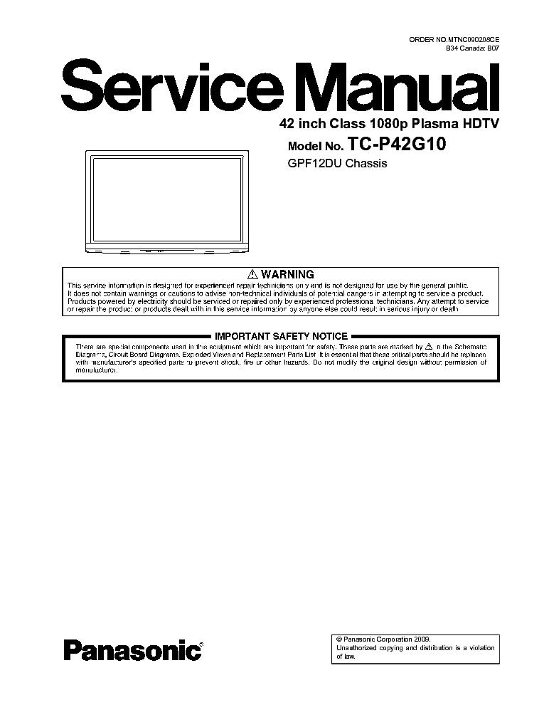 panasonic plasma tv manuals 65