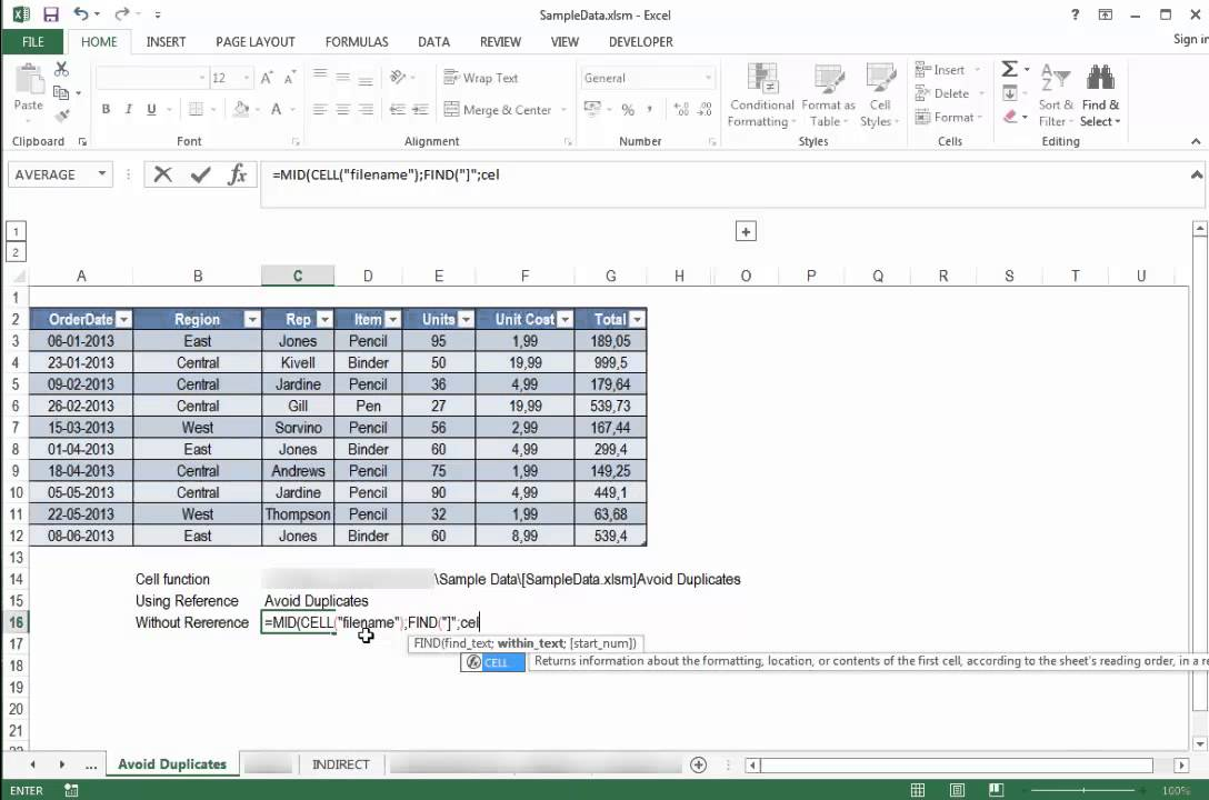 how to manually insert a formula in excel