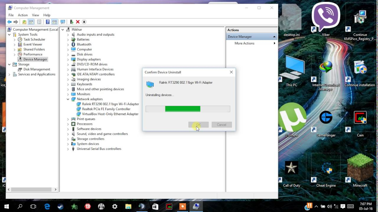 how to manually reset wireless adapter windows 7
