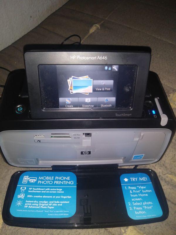 hp photosmart a646 compact photo printer manual