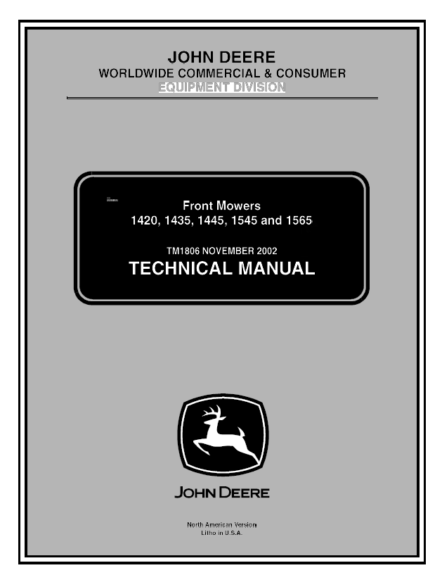 john deere 1445 repair manual