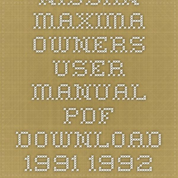 nissan primera owners manual pdf