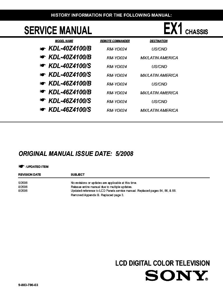 sony kdl 42v4100 manual pdf